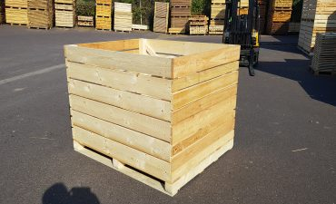 Wooden boxes for potatoes, onions